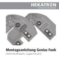 Montageanleitung Genius Funk - Hekatron
