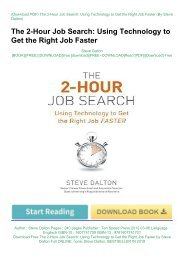 Download Free The 2-Hour Job Search: Using Technology to Get the Right Job Faster by Steve Dalton Full ONLINE