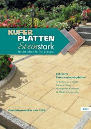 Exklusive Betonwerksteinplatten - Kufer Platten GmbH