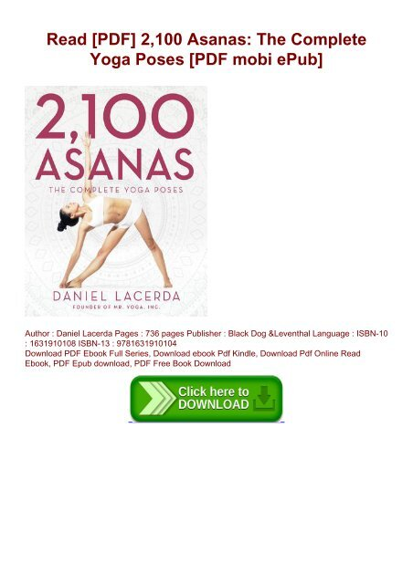 Read Pdf 2 100 Asanas The Complete Yoga Poses Pdf Mobi Epub
