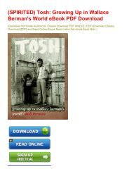 (SPIRITED) Tosh: Growing Up in Wallace Berman's World eBook PDF Download