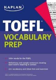 (EXHILARATED) Kaplan TOEFL Vocabulary Prep eBook PDF Download