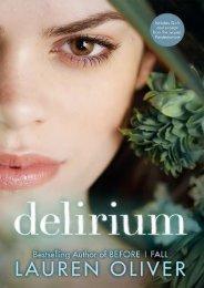 (SELF-SUFFICIENT) Delirium (Delirium, #1) eBook PDF Download