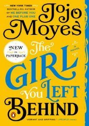 (EXTRA) The Girl You Left Behind eBook PDF Download