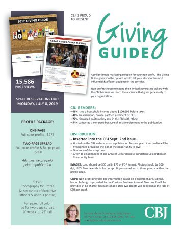 Giving Guide 2019 Kelly