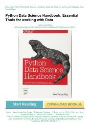 FREE~DOWNLOAD Python Data Science Handbook: Essential Tools for working with Data by Jake VanderPlas For Online