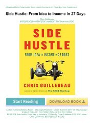 BEST PDF Side Hustle: From Idea to Income in 27 Days by Chris Guillebeau FOR IPAD