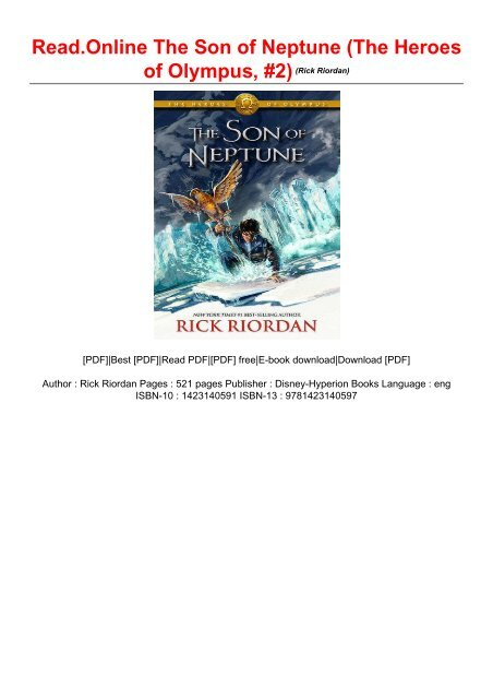 Read Online The Son Of Neptune The Heroes Of Olympus 2