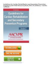 (ALWAYS) Guidelines for Cardiac Rehabilitation and Secondary Prevention Programs [with Web Resource] eBook PDF Download