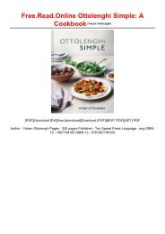 Free.Read.Online Ottolenghi Simple: A Cookbook