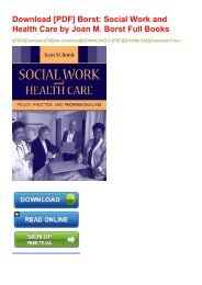 Download [PDF] Borst: Social Work and Health Care by Joan M. Borst Full Books