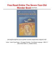 Free.Read.Online The Seven-Year-Old Wonder Book