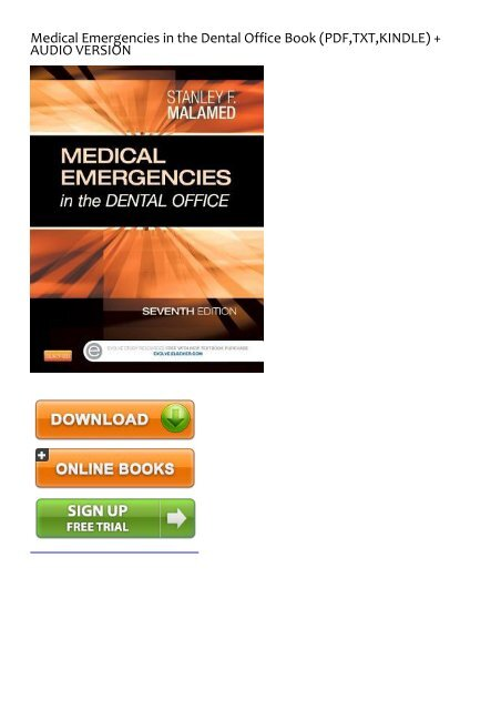 Medical Emergencies In The Dental Office Malamed Ebook