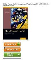 [Download] Free Global Mental Health: Principles and Practice by Vikram Patel Download file