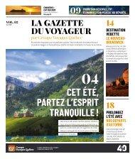 La Gazette du Voyageur par GVQ - avril 2019