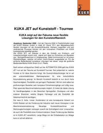 Tournee KUKA zeigt auf der Fakuma neue flexible Lösungen für den ...