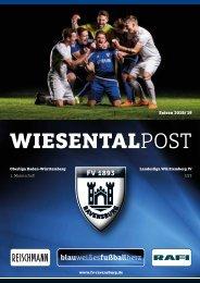 Wiesentalpost 2019 | 1.Spieltag