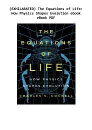 (EXHILARATED) The Equations of Life: How Physics Shapes Evolution ebook eBook PDF