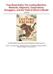 Free.Read.Online The Looting Machine: Warlords, Oligarchs, Corporations, Smugglers, and the Theft of Africa's Wealth