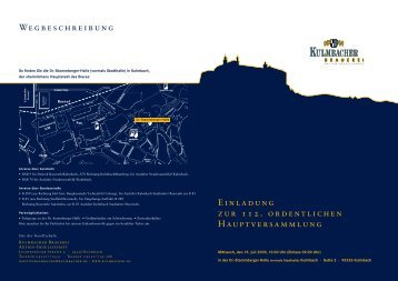 Einladung mit Tagesordnung zur Hauptversammlung am 15.07.2009