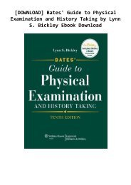 [DOWNLOAD] Bates' Guide to Physical Examination and History Taking  by Lynn S. Bickley Ebook Download