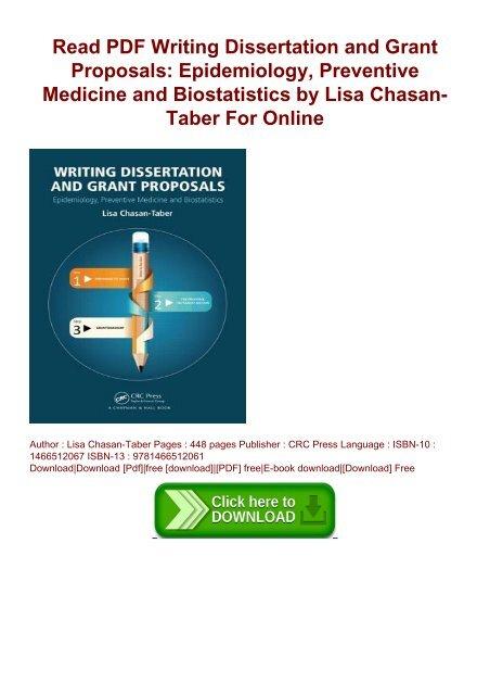 Dissertation grant proposal