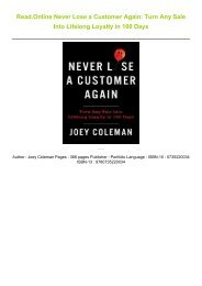 Read-Online-Never-Lose-a-Customer-Again-Turn-Any-Sale-Into-Lifelong-Loyalty-in-100-Days