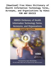 [Download] Free Himss Dictionary of Health Information Technology Terms, Acronyms, and Organizations by Himss FOR ANY DEVICE