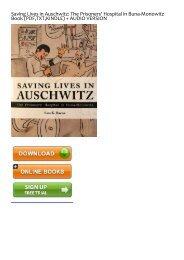 -PDF-free-Saving-Lives-in-Auschwitz-The-Prisoners-Hospital-in-Buna-Monowitz-by-Ewa-K-Bacon-Ebook-READ-ONLINE