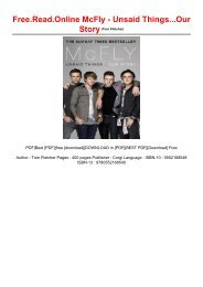 Free.Read.Online McFly - Unsaid Things...Our Story