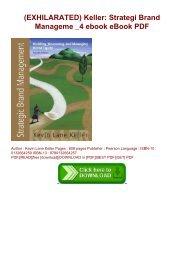 (EXHILARATED) Keller: Strategi Brand Manageme _4 ebook eBook PDF