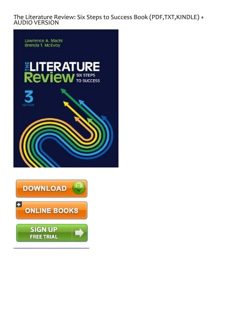 The literature review six steps to success pdf