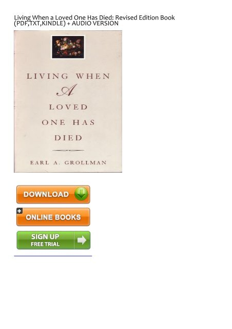 FUNNY) Living When a Loved One Has Died: Revised Edition