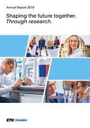 Annual Report 2018 - ETH Foundation