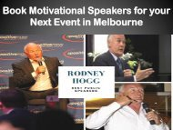 Book Motivational Speakers for your Next Event in Melbourne