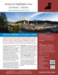 Historical Highlights Tour Germany - Austria - Alpentouristik Travel ...