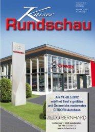Ausgabe 2 / 2012 11. Jahrgang - Die Kaiserrundschau