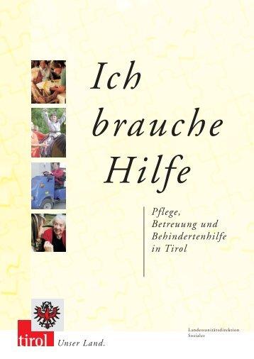 Pflege, Betreuung und Behindertenhilfe in Tirol - Rehapraxis