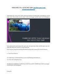 TERJAMIN, WA +62 812 9627-2689 ,Jual Bio Septic Tank ,Cibeureum,Sukabumi
