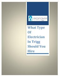 What Type Of Electrician In Trigg Should You Hire