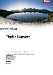 Tiroler Badeseen