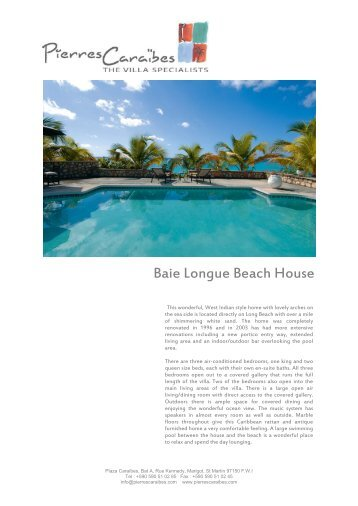Baie Longue Beach House - Pierres Caraibes