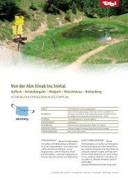 Von der Alm hinab ins Inntal Auffach – Schatzbergalm - Tirol