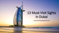 13 Must-Visit Sights in Dubai
