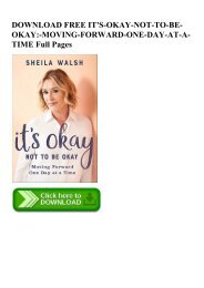 DOWNLOAD FREE IT'S-OKAY-NOT-TO-BE-OKAY-MOVING-FORWARD-ONE-DAY-AT-A-TIME Full Pages