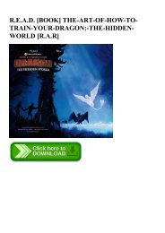 R.E.A.D. [BOOK] THE-ART-OF-HOW-TO-TRAIN-YOUR-DRAGON-THE-HIDDEN-WORLD [R.A.R]