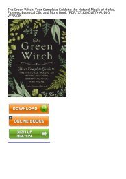 PDF) The Green Witch Your Complete Guide to the Natural