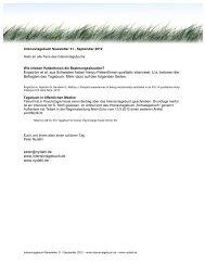 Intensivtagebuch Newsletter31 - nydahl.de