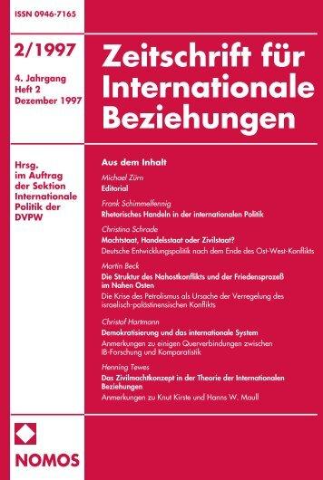 2/1997 nomos - Zeitschrift für Internationale Beziehungen (ZIB ...