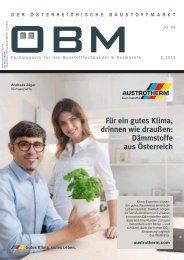 2019-3 OEBM Der Österreichische Baustoffmarkt -  AUSTROTHERM Für ein gutes Klima